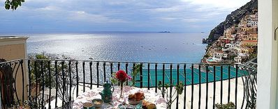 Photo for 2 bedroom Villa, sleeps 4 in Positano with Air Con and WiFi