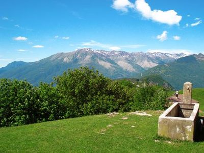 Photo for Small holiday house in a dominant position high above Domaso with lake views