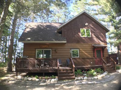 Enjoy the Season in a cozy Log Cabin in Crosslake on Big Trout Lake!