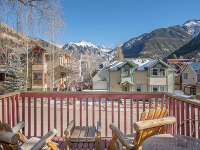Photo for Stunning Box Canyon Views, Private Deck, Sauna, 2 Designated Parking Spaces, Walk to Everything.