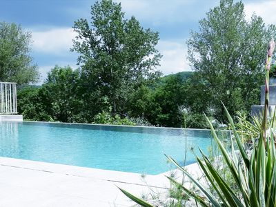 Photo for Gite pool HIDDEN private heated in the countryside Lauzerte Medieval