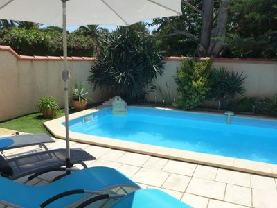 Photo for 4 bedroom Villa, sleeps 8 in Sainte-Marie-Plage with Pool, Air Con and WiFi