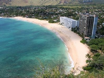 View of the Hawaiian Princess and beach from Lahalahi Point