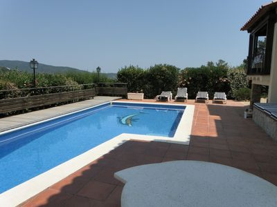 Photo for Beautiful Villa for six with private pool, seaviews, BBQ's and 3 terraces