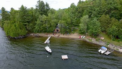 Photo for Lake Massawippi Waterfront Cottage in Hatley
