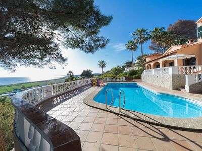 Photo for Villa with incredible views to the beach in Son Bou, Menorca