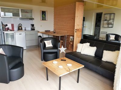 Photo for Apartment ECUREUIL in new chalet with view of Lake Matemale sleeps 6