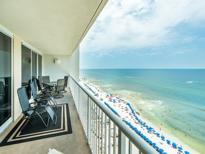 Photo for ☼Majestic Beach 1-1404-3BR☼ Sep 26 to 28 $622 Total! Beach Front Views-5 Pools!