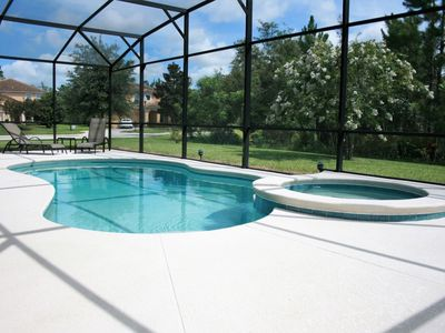 Photo for Gorgeous 5 BR 4 BA Private Pool Home with Spa Near Disney