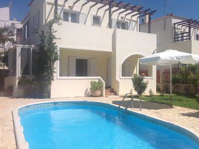 Photo for Villa Luxury Almyrida with private pool near from Blue flag Almyrida beach