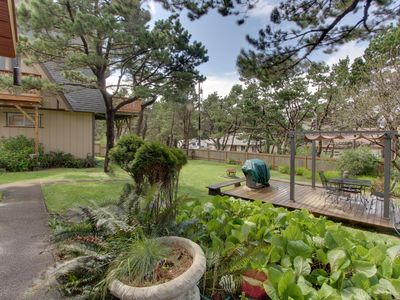 Photo for Home w/ hot tub, garden, patio & ocean views - great for events, steps to beach!