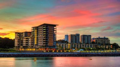 Photo for Darwin Waterfront Luxury Suites - 1 Bedroom with VIEWS & FREE CAR (Sleeps 3)