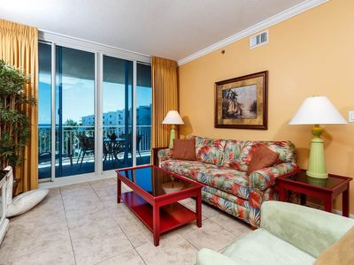 Photo for Inviting tropical condo at Waterscape! Washer/dryer in-unit! 490 feet of pristine, private beach!