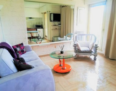 Photo for Charming residence pool studio 2 steps from the sea