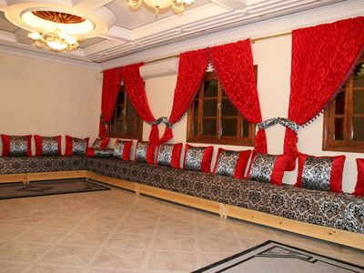 Photo for Luxury Apartment with air conditioning & just 1 minute walk to Hammam & Shops.