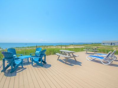 Photo for Direct Ocean-front Oasis - SLEEPS 6! VERY SPACIOUS!! 25x30 ft EXCLUSIVE USE DECK