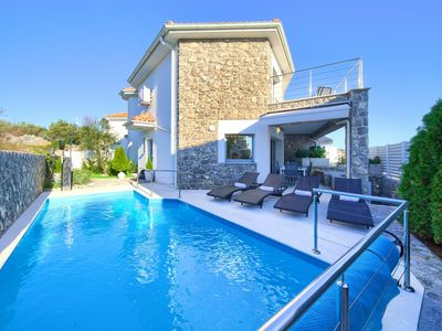 Photo for Villa Modern villa Calma 2 with own swimming pool in a quiet area of Krk!