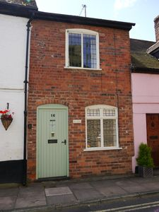 Photo for Ludlow centre, period character town cottage with secluded pet friendly garden