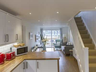 Photo for Contemporary beach front house at Porth, Newquay - ideal for couples + families