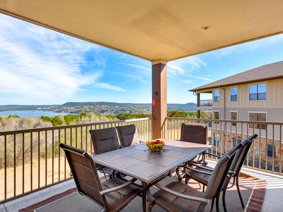 Photo for Hollows Resort Villa with Large Porch - Great Lake & Hill Country View