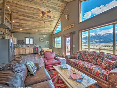 Photo for NEW! Mtn-View Cabin 40 Mi to Yellowstone Ntl Park!