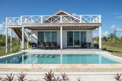 Wild Orchid House, beachfront pool and roof deck.