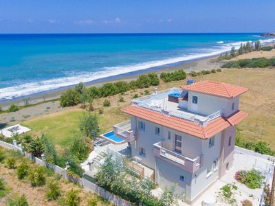 Photo for Kalisto Beach Villa: Large Private Pool, Walk to Beach, Sea Views, A/C, WiFi, Car Not Required