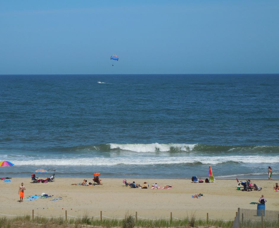 View of Beach from the Balcony with Parasail