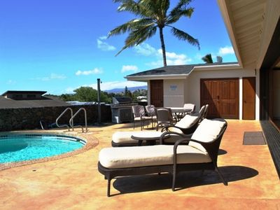 """Photo for """"Private Heated Pool"""" Stunning Home Sunsets & Ocean View"""