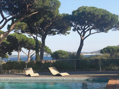 Photo for Villa in Grimaud - superb view of St Tropez 100m from the beaches