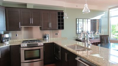 Large Kitchen with Gas Stove and Oven