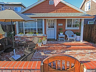 Photo for Two Classic Newport Cottages w/A/C! Patio & Courtyard, Quick Walk to Beach.