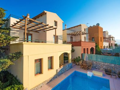 Photo for 2 bedroom Villa, sleeps 6 in Almyrida with Pool, Air Con and WiFi