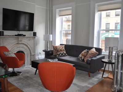 Photo for NEW! Modern, gut renovated, three-story townhouse in Williamsburg - prime locati