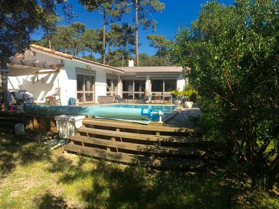 Photo for WOOD VILLA WITH POOL AND GARDEN IN QUIET - CLOSE TO THE BEACH