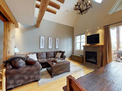 Photo for Roomy ski-in/out townhome w/ private hot tub & paid access to shared pool