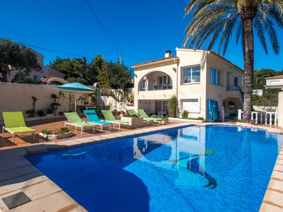 Photo for This 5-bedroom villa for up to 10 guests is located in Moraira and has a private swimming pool, air-