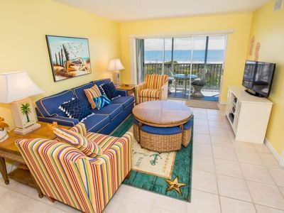 Photo for Gulf Front, First Living Level, Two Bedroom Condo - Sanibel Surfside 112