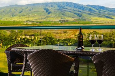 Celebrate an occasion with the West Maui Mountains as your backdrop from the privacy of your lanai.