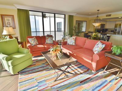 Photo for Beach front Condo, Corner Unit with large balcony at Sanibel Harbour Resort