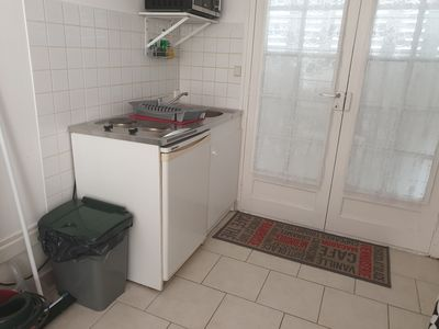 Photo for Comfortable studio with space for vehicle near shops and