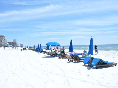Enjoy the white sands of Panama City Beach.
