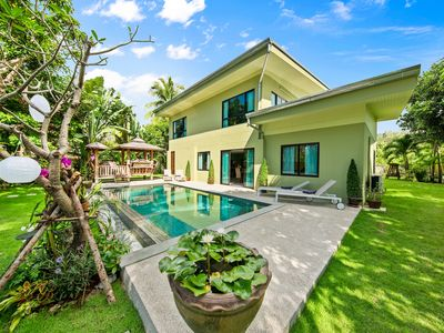 "Photo for Private vIlla with pool. ""Baan Suaan Serenity"".4 bedroom tropical hide-away"