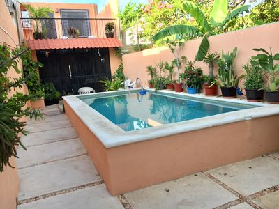 5 metre pool and back patio