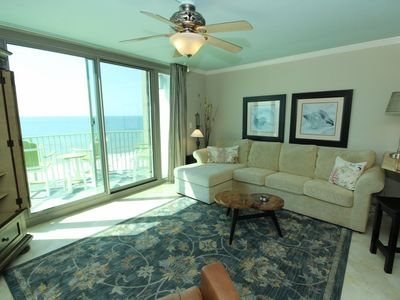 Photo for Perdido Towers West 907- Beach Front View from Terrace and Coastal Interior!