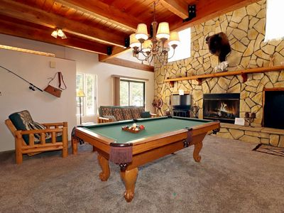 Photo for Birds Nest: Walk to the Lake! Pool Table! Hot Tub! Wood Fireplace! Cable TV! Sleeps 12!
