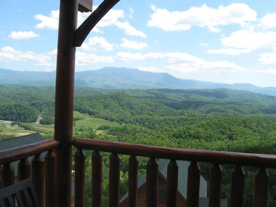 Awesome view of the Great Smoky Mountains National Park from the rear deck!