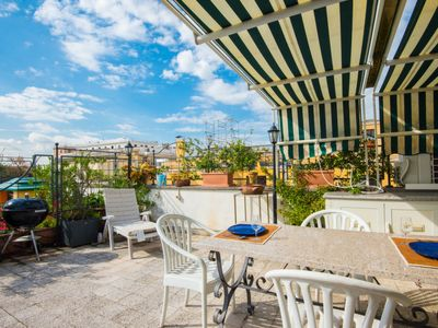 Photo for Apartment Opera Luxury Terrace Apartment in Roma: Centro Storico - 6 persons, 2 bedrooms