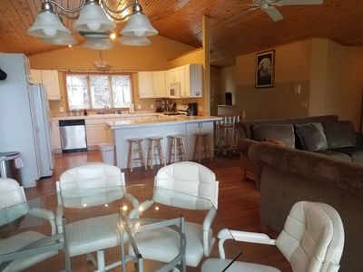 Large kitchen & living area