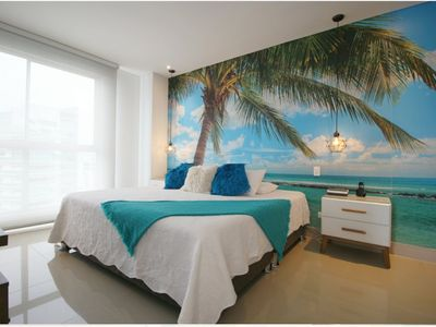 Photo for Fantastic apartment on the beach / 31st floor / AC